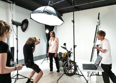 BTS Motorrad Shooting im Sivion Studio